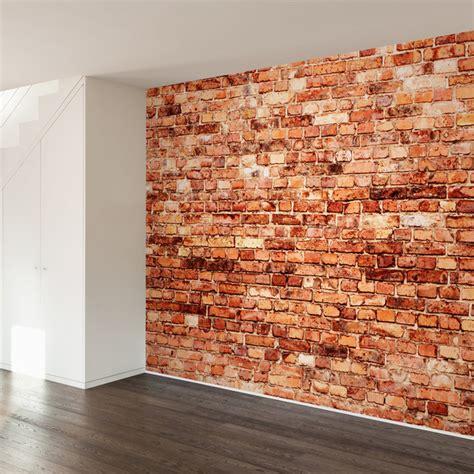 Brick Exterior Wall Mural Decal, 4 Panel Contemporary