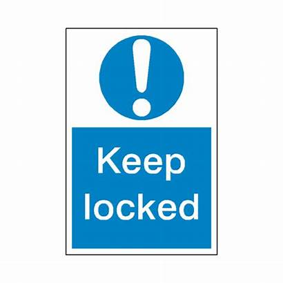 Keep Locked Clear Sign Sticker Mandatory Safety