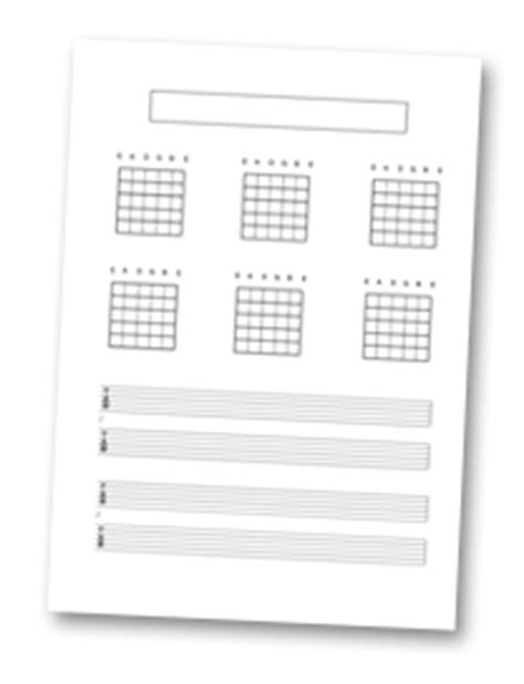 printable guitar teaching resources blank necks chords