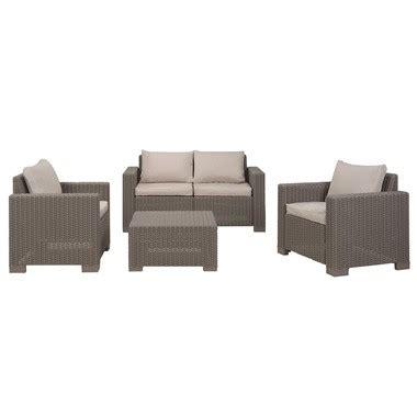 Allibert salon de jardin California avec banc deux places et 2 fauteuils   Blokker