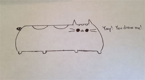draw pusheen  cat  steps  pictures