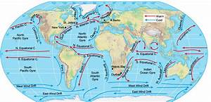 Geography Short Notes : Ocean Currents and Active Valcanos