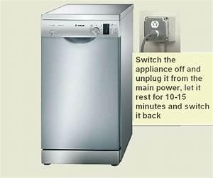 Bosch Dishwasher Error Code E27