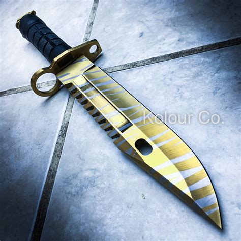 13 quot cs go tactical fixed blade knife bayonet bowie tiger tooth survival ebay