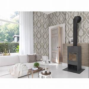 freundin home collection vintage vliestapete greigebraun With markise balkon mit freundin home collection tapete