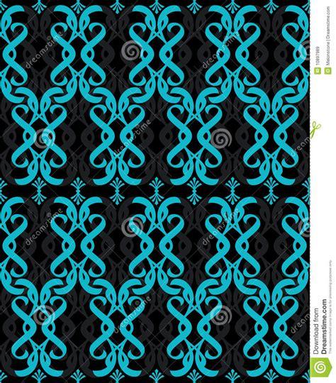 seamless turquoise blue wallpaper stock illustration