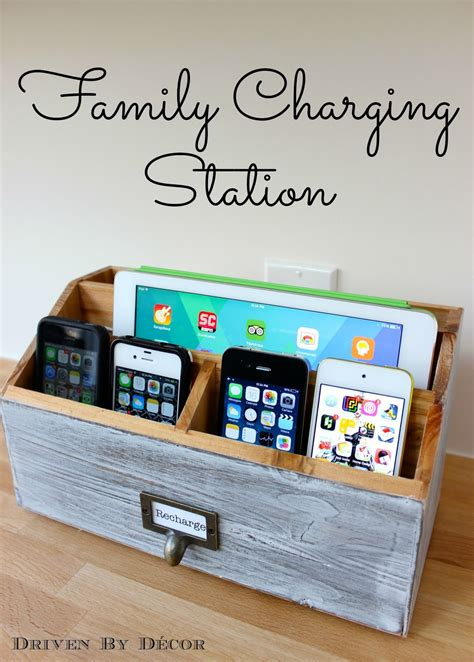 diy family charging station driven  decor