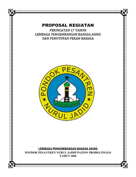 Proposal bazar ramadhan pemkab lampg utara 1433 hfull description. Contoh Proposal Kegiatan Imlek Sekolah - retorika