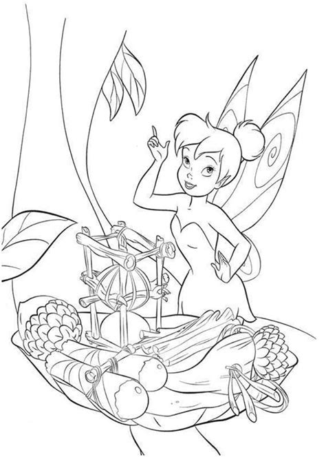disney fairies tinkerbell  boat frm fruits coloring page  print  coloring