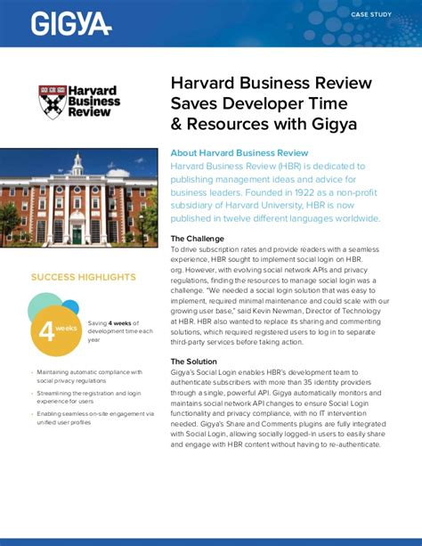 Case Study Harvard Business Review