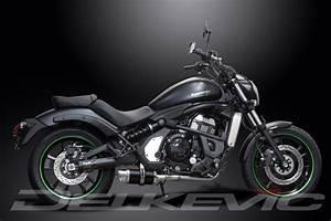 Kawasaki Vulcan S 650 : full 2 1 exhaust system 200mm round carbon silencer vulcan s en650a 2015 2017 ebay ~ Medecine-chirurgie-esthetiques.com Avis de Voitures