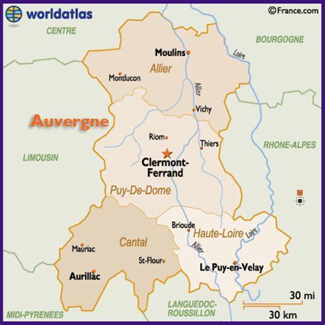 Carte Nouveau Monde Conseil Régional Auvergne by Clermont Ferrand R 233 Gion Auvergne