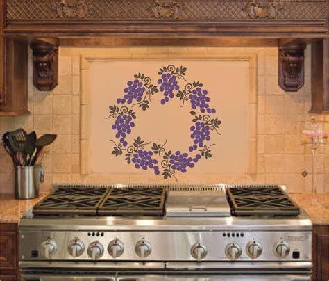 Grape Decor For Kitchen by Grape Wreath Kitchen Wall Stickers Vinyl Decal Decor Ebay