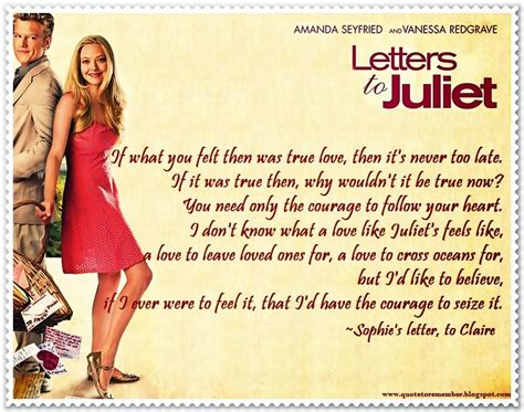 letters to juliet letters to juliet quotes quotesgram