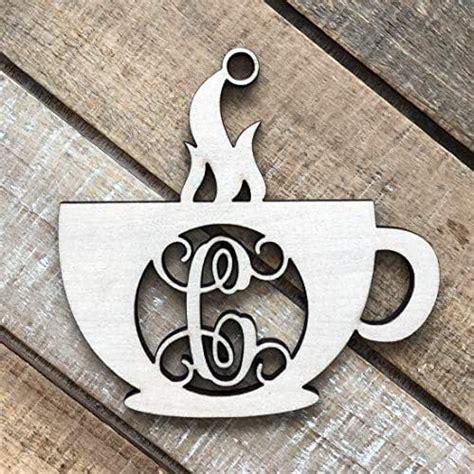 amazoncom monogram coffee ornament coffee cup