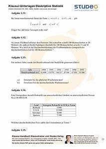 Häufigkeitsverteilung Berechnen : studeo deskriptive statistik ein merkmal ~ Themetempest.com Abrechnung