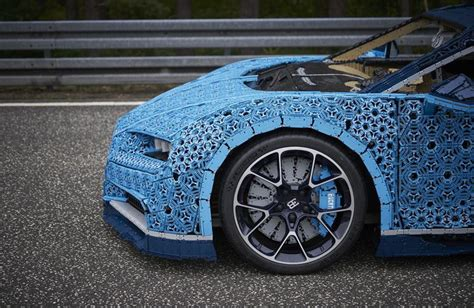 Here's our amazing 1:1 version of the iconic bugatti chiron. This full-size LEGO Bugatti Chiron actually runs and drives   Driving