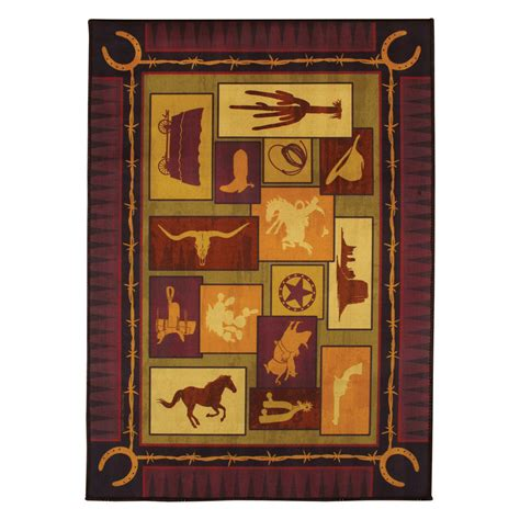 southwest rugs cowboy indoor outdoor rug lone