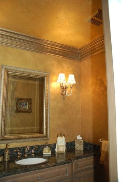 Wand Gold Streichen by Metallic Gold Plaster Troweled Walls Gilded Ceiling