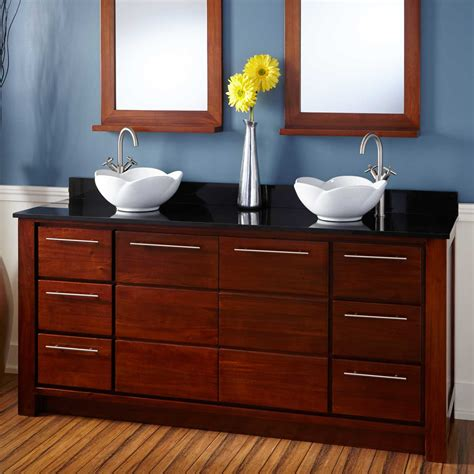 Two Vanities In Bathroom - 60 quot venica mahogany vanity for undermount sink