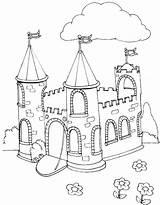 Castle Coloring Princess Pages Disney Elsa Printable Hogwarts Getdrawings Print Getcolorings Colorings sketch template
