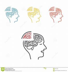 Memory loss line icon stock illustration. Image of ...