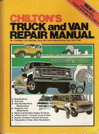 chilton truck van repair manual