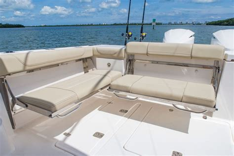Boat Bench Seat by Pursuit Os 355 Offshore The Fold Transom Bench Seat