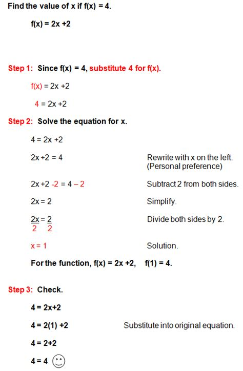 solving  linear function