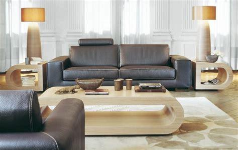 canapé en cuir contemporain roche bobois le salon roche bobois un conte de fée moderne archzine fr