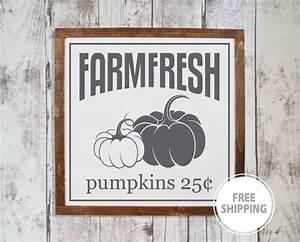 Farm, Fresh, Pumpkins, Sign, Fall, Wood, Signs, Pumpkin, Autumn