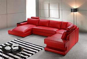 orion red bonded leather sectional sofa set black With red color sectional sofa