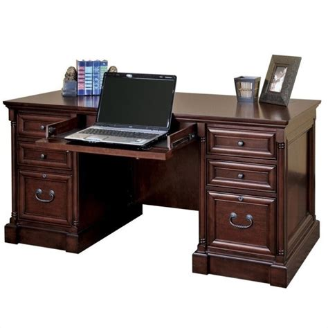 double desk home office martin furniture mount view efficiency double pedestal