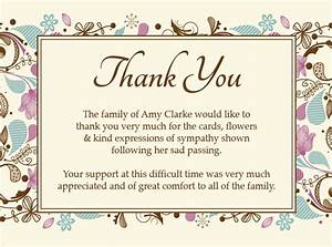 funeral thank you card ideas google search sympathy With thank you letter for sympathy flowers