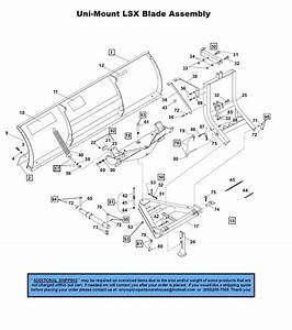 Lsx - Uni-mount Plows - Part Diagrams - Western Products - Blade Components