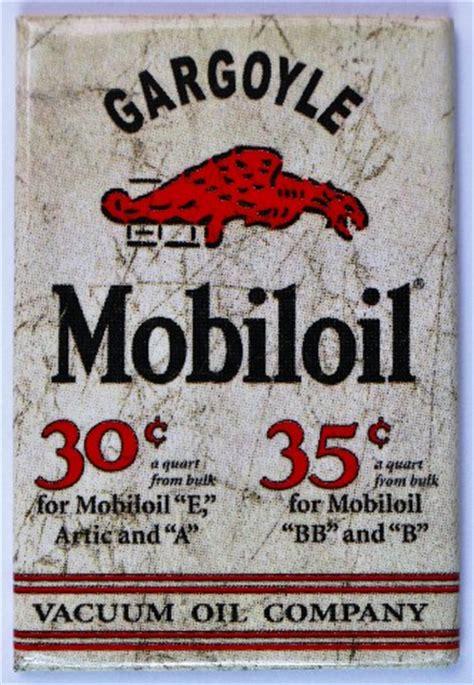 mobiloil gargoyle fridge magnet mobil oil  gas vintage