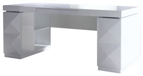 vig furniture modern white lacquer office desk reviews houzz