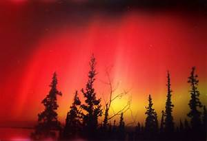 Rare Red Aurora  A Photo From Northwest Territories