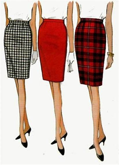 Skirt Pencil Mccalls Pattern Sewing Easy 60s