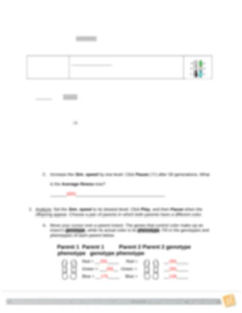 The student handout probes students' understanding of the key concepts addressed in the film. Student Exploration Natural Selection Gizmo Answer Key + My PDF Collection 2021
