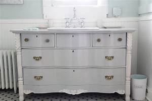 monday makeover bowfront dresser made into master With old dresser made into bathroom vanity