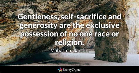 gentleness  sacrifice  generosity
