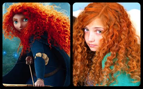 meridas fiery  curly red hair disney princess