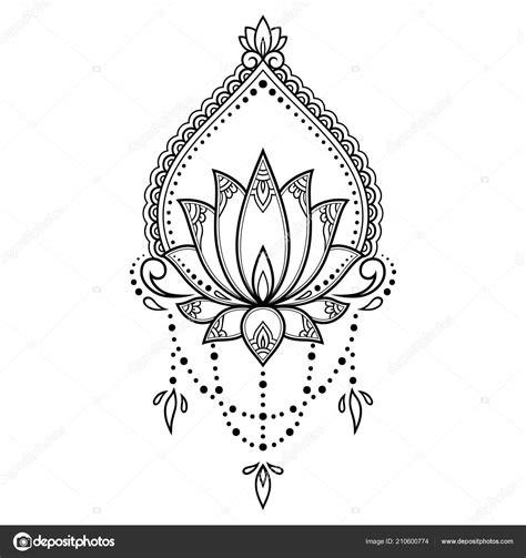 dessin fleur de lotus tatouage