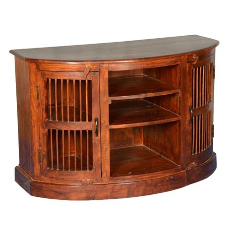 Half Cabinet by Half Moon Curved Solid Wood Tv Cabinet Media Center