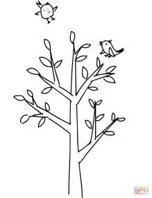 Spring Tree Coloring Page Free Printable Coloring Pages