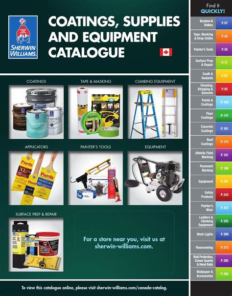 Sherwin Williams, Canada Catalogue   Coatings, Supplies
