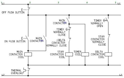 Control Circuit Star Delta Wye Electric