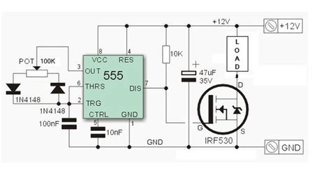 pwm dimmer using ne555 and mosfet with diy aluminium circuit diagram pictures of and led