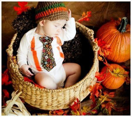 thanksgiving newborn photography  adorable